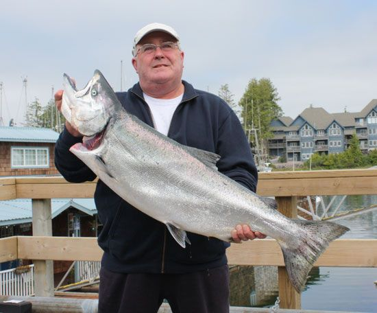 Barry Owen with a 34 lb Chinook July 15, 2008