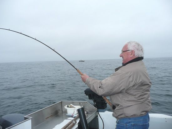 Rick Bartling June 13, 2009 reeling in the big one!